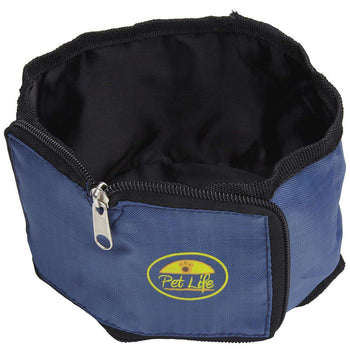 Wallet Travel Pet Bowl - Blue-Pet Life-DirtyFurClothing