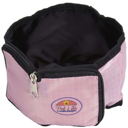 Wallet Travel Pet Bowl - Pink-Pet Life-DirtyFurClothing