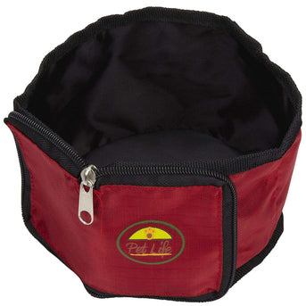 Wallet Travel Pet Bowl - Red-Pet Life-DirtyFurClothing