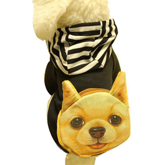 Warmth Pet Dog Clothes Winter Hoodie Fashion Pet Dog Clothing - Black-Blancho-DirtyFurClothing
