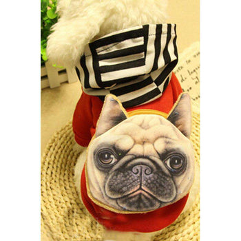 Warmth Pet Dog Clothes Winter Hoodie Fashion Pet Dog Clothing - Red-Blancho-DirtyFurClothing