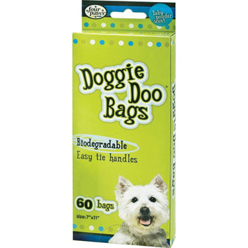 Wee Wee Easy-Tie Disposable Doggie Doo Bags-Four Paws-DirtyFurClothing