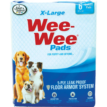 Wee Wee Super Absorbent Quilted Pads 40 Pk-Four Paws-DirtyFurClothing