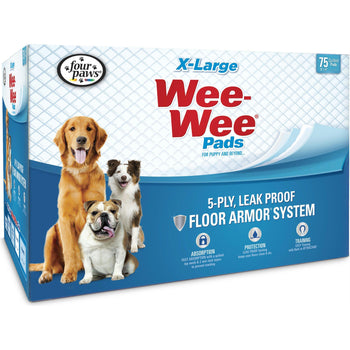 Wee Wee Super Absorbent Quilted Pads 75 Pk-Four Paws-DirtyFurClothing