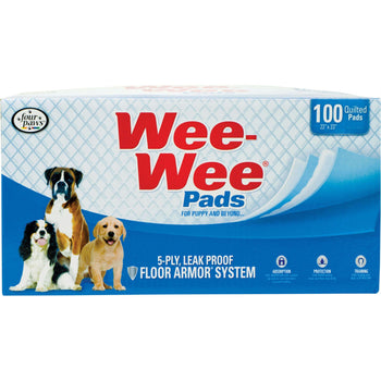 Wee Wee Super Absorbent Quilted Pads For Puppies 100 Ct-Four Paws-DirtyFurClothing
