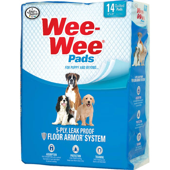 Wee Wee Super Absorbent Quilted Pads For Puppies 14 Pk-Four Paws-DirtyFurClothing