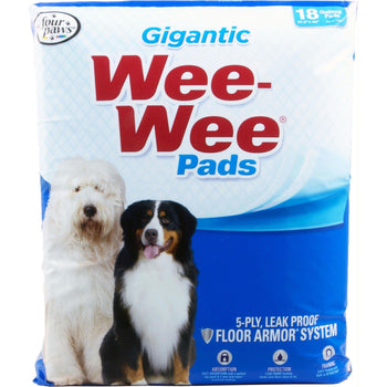 Wee Wee Super Absorbent Quilted Pads Gigantic 18 Pk-Four Paws-DirtyFurClothing