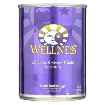 Wellness Pet Products Canned Dog Food - Chicken And Sweet Potato Recipe - Case Of 12 - 12.5 Oz.-Wellness Pet Products-DirtyFurClothing