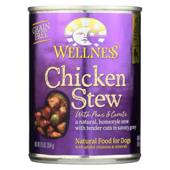 Wellness Pet Products Canned Dog Food - Chicken With Peas And Carrots - Case Of 12 - 12.5 Oz.-Wellness Pet Products-DirtyFurClothing