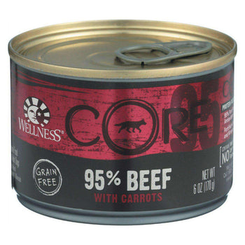 Wellness Pet Products Canned Dog Food - Core Beef With Carrots Recipe - Case Of 24 - 6 Oz.-Wellness Pet Products-DirtyFurClothing