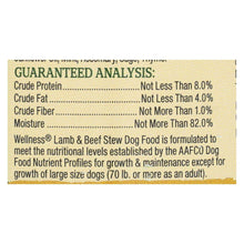 Wellness Pet Products Canned Dog Food - Lamb And Beef With Brown Rice And Apple - Case Of 12 - 12.5 Oz.-Wellness Pet Products-DirtyFurClothing