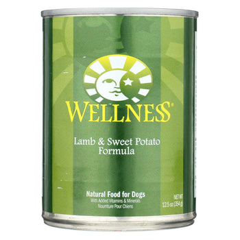 Wellness Pet Products Canned Dog Food - Lamb And Sweet Potato Recipe - Case Of 12 - 12.5 Oz.-Wellness Pet Products-DirtyFurClothing