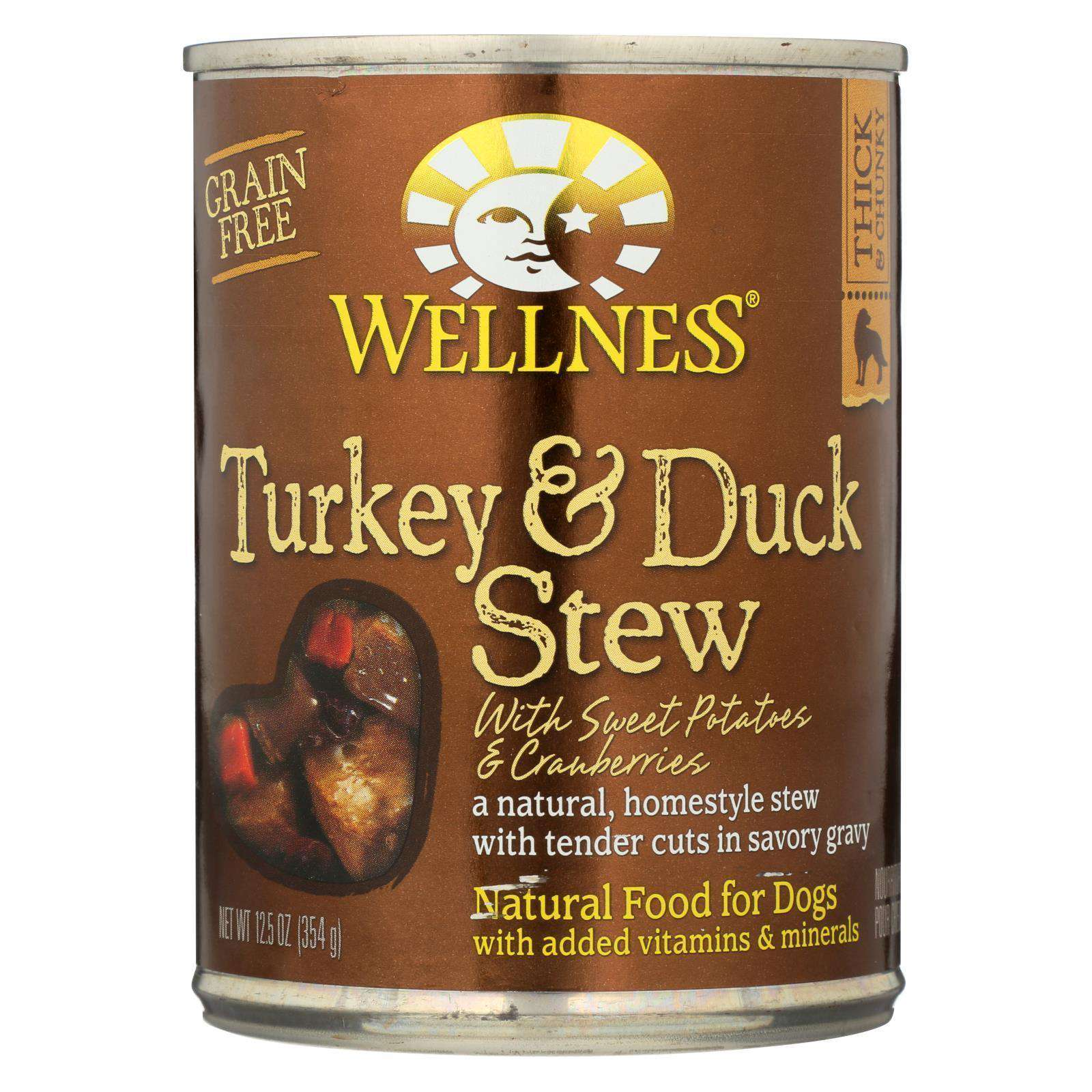 Wellness Pet Products Canned Dog Food - Turkey And Duck With Sweet Potatoes And Cranberries - Case Of 12 - 12.5 Oz.-Wellness Pet Products-DirtyFurClothing