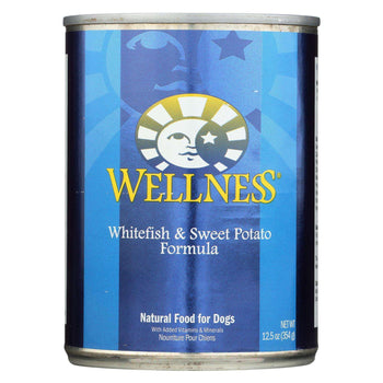 Wellness Pet Products Canned Dog Food - Whitefish And Sweet Potato Recipe - Case Of 12 - 12.5 Oz.-Wellness Pet Products-DirtyFurClothing