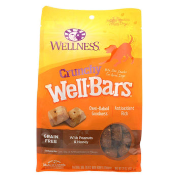 Wellness Pet Products Dog Treats - Peanuts And Honey - Case Of 6 - 20 Oz.-Wellness Pet Products-DirtyFurClothing