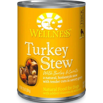 Wellness Pet Products - Turkey Stew With Barley & Carrots Canned Dog Food ( 12 - 12.5 Oz Cans)-Wellness Pet Products-DirtyFurClothing