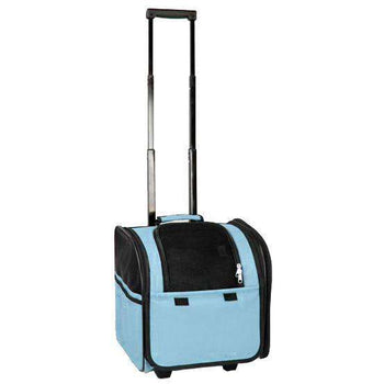 Wheeled Travel Pet Carrier- Light Blue-Pet Life-DirtyFurClothing