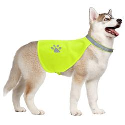 X-Large Hi-Vision Reflective Dog Safety Vest-DirtyFurClothing-DirtyFurClothing