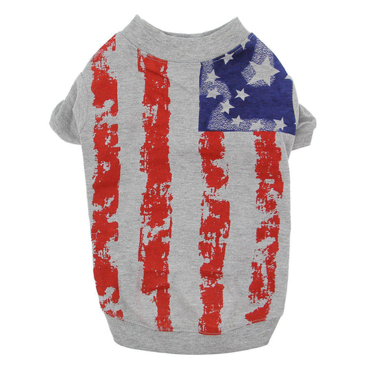 Zack & Zoey America'S Pup Flag Print Dog T-Shirt-I See Spot-DirtyFurClothing