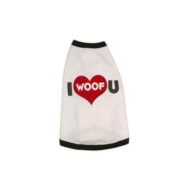 I Woof U dog shirt