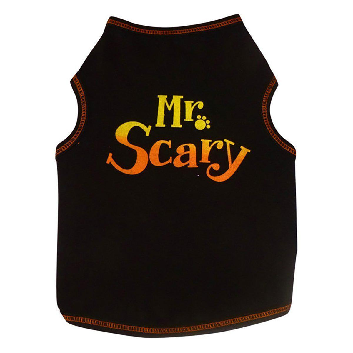 dog Mr Scary tank top