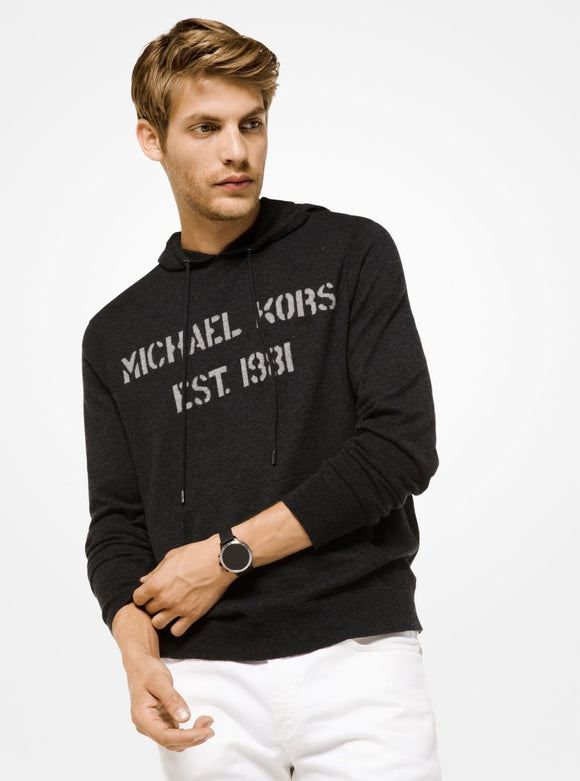 MICHAEL KORS MENS Logo CASHMERE Hoodie - Mishon's Galleria