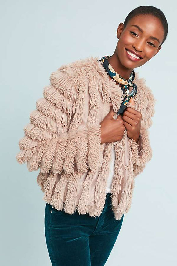 Luxurious and Soft GREYLIN FAUX FUR JACKET designed by Dora Lim - Mishon's Galleria