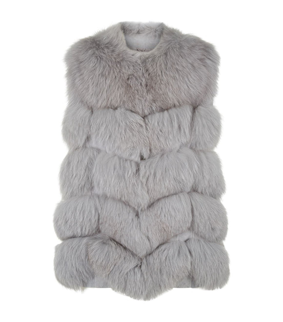EXCLUSIVE Max & Moi Fox Fur Nollita Gilet - Mishon's Galleria