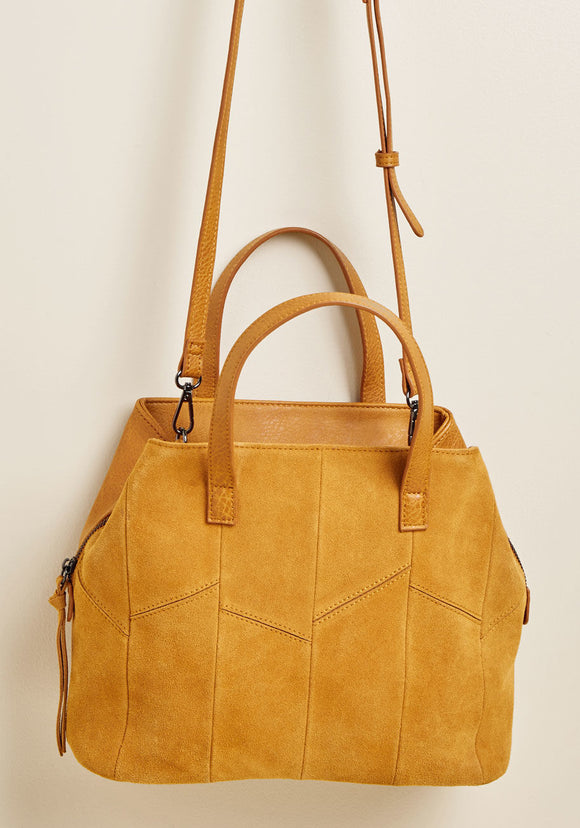 FULL STEAM AHEAD HandBag in Mustard Yellow - Mishon's Galleria