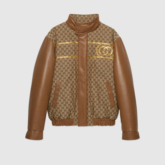 GUCCI Dapper Dan GG canvas jacket - Mishon's Galleria