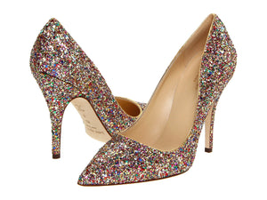 KATE SPADE New York Licorice TOO Glittered High Heels - Mishon's Galleria