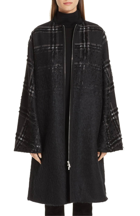 ALVERNA Tufted Ombré Plaid Coat LAFAYETTE 148 NEW YORK - Mishon's Galleria
