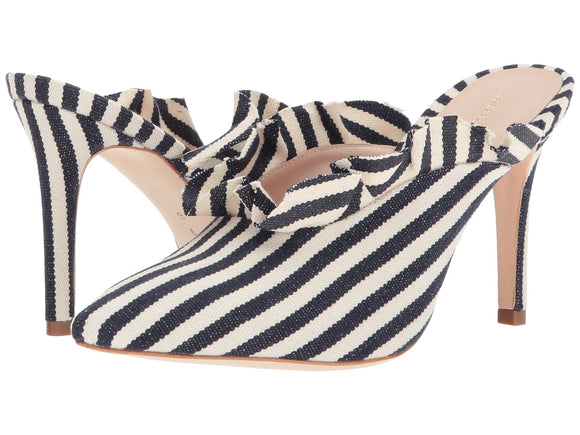 LOEFFLER RANDALL Langley Striped Ruffle Slipon Heel - Mishon's Galleria