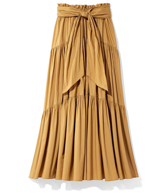 PROENZA SCHOULER Long Cotton Skirt in Fatigue - Mishon's Galleria