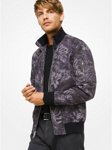 MICHAEL KORS MENS Tropical Tech Bomber Jacket - Mishon's Galleria