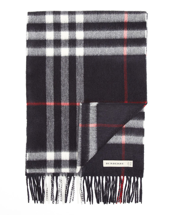 Men's BURBERRY Giant Icon Check Cashmere Scarf - Mishon's Galleria