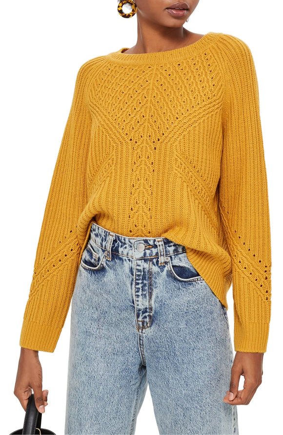 RIB & POINTELLE Women's Stitch Sweater - Mishon's Galleria