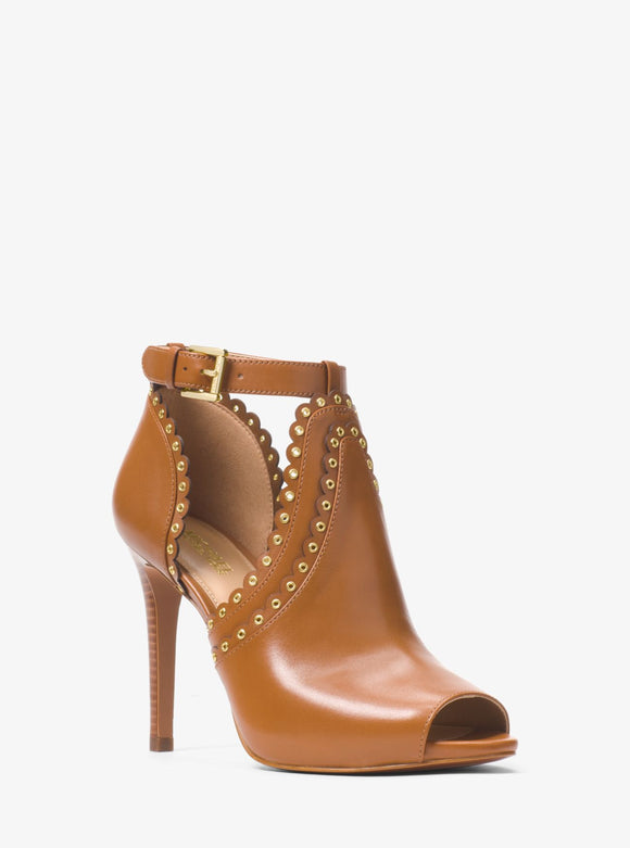 MICHAEL MICHAEL KORS Jessie Leather Open-Toe Bootie - Mishon's Galleria
