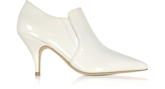 TORY BURCH Georgina White Patent Leather Ankle Booties - Mishon's Galleria