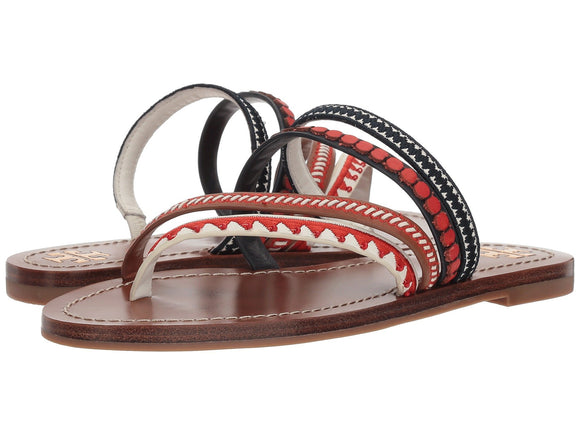 TORY BURCH Patos Embroidered Sandal - Mishon's Galleria
