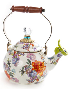 MACKENZIE-CHILDS Flower Market Whistling Tea Kettle - Mishon's Galleria