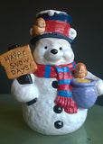 "DISNEY Winnie the Pooh ""HAPPY SNOW DAYS!"" Cookie Jar NEW - RARE - Mishon's Galleria"