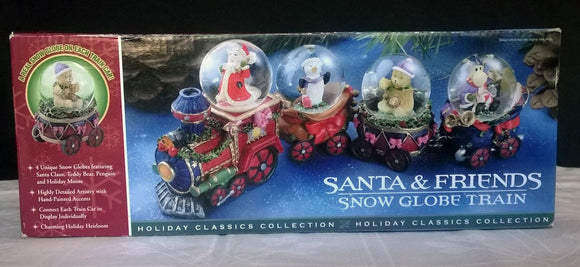 SANTA & Friends Snow Globe Train