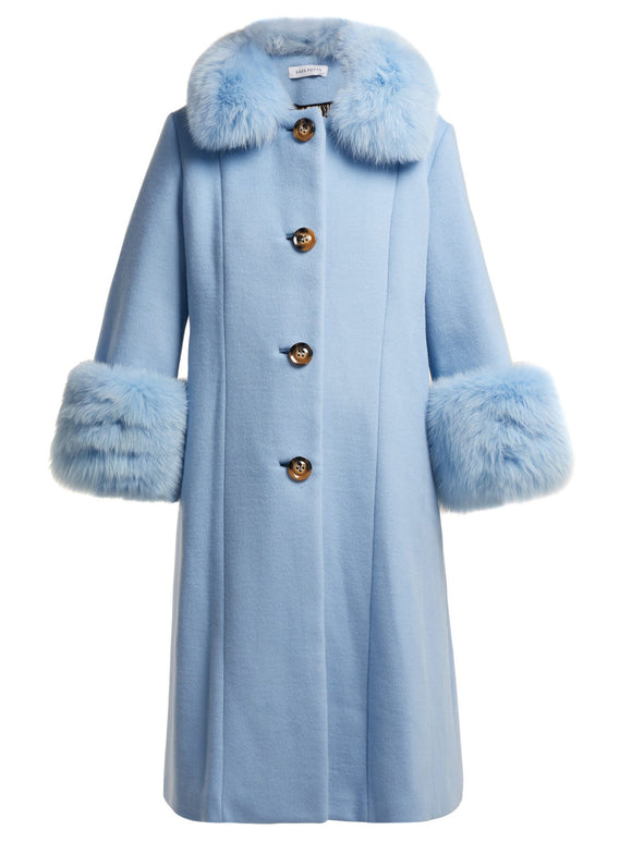 SAKS POTTS  Yvonne Wool Coat - Mishon's Galleria