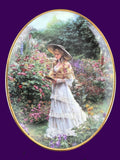 """EMMA"" Romantic Gardens Collectors Numbered First Issue Plate 1997 Reco - NEW - Mishon's Galleria"