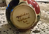VTG 1950's HOLIDAY HOLLAND HandPainted Vase Numbered and Signed by Artist - Mishon's Galleria