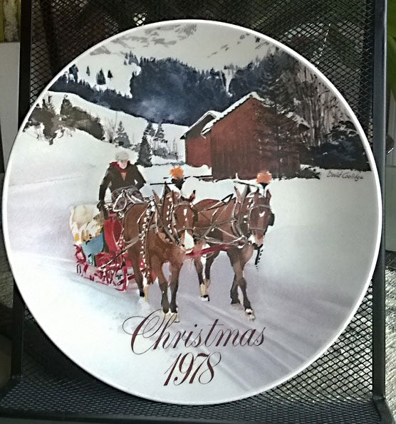VTG 1978 Smuckers Christmas Plate by David Coolidge Collectors Plate NEW - Mishon's Galleria