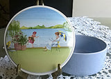 Vtg VILLEROY & BOCH NEW ROMANTIC SEASONS No. 2 'SUMMER' Porcelain Trinket Box - Mishon's Galleria