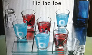 NEW - IN BOX Luminarc Tic-Tac-Toe Shot Glass Drinking Game Set - Mishon's Galleria