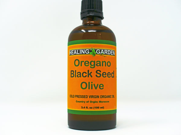 OREGANO * BLACK SEED * OLIVE OIL COLD PRESS EXTRA VIRGIN ORGANIC 3.4 OZ